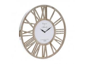 Ρολόι τοίχου ξύλινο με Inox 50 εκ.