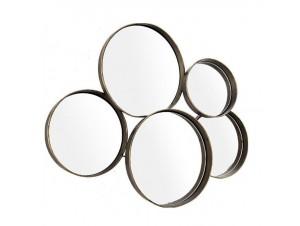 Καθρέφτης μεταλλικός σε κύκλους 76 x 60 εκ.