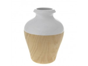 Βάζο κεραμικό με βαφή ξύλου
