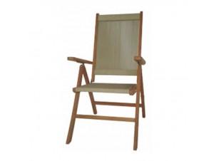 KILO ξύλινη πολυθρόνα με σχοινιά