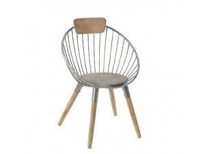 Πολυθρόνα Μεταλλική με ξύλα