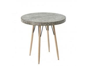 Τραπέζι ξύλινο με μεταλλικά στοιχεία