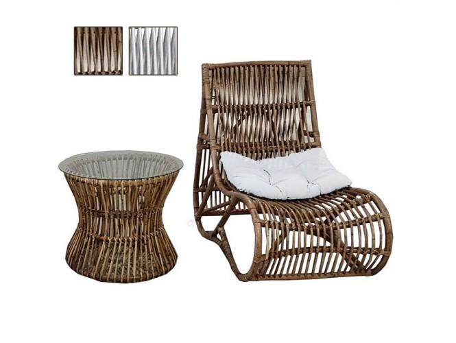 MIDU Set πολυθρόνα relax Rattan
