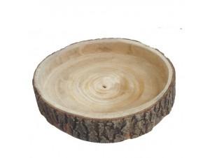 Ξύλινο Διακοσμητικό κουπ βαθύ