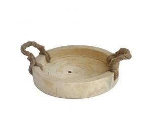 Ξύλινο Διακοσμητικό κουπ με σχοινιά
