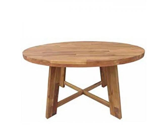 CARDIF τραπέζι στρογγυλό με ξύλο ακακία