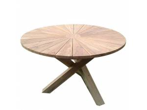 BYRON τραπέζι στρογγυλό με χιαστή πόδια