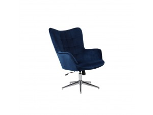 Moby πολυθρόνα περιστρεφόμενη Μπλε