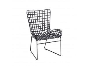 Straw πολυθρόνα μαύρο