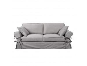 Country καναπές 3Θεσιος Γκρι Ανοιχτο 165-12