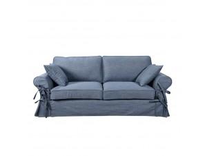 Country καναπές 3Θεσιος Γαλαζιο σκούρο 165-13