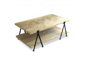 Alpha Coffee Table White Washed μαύρο