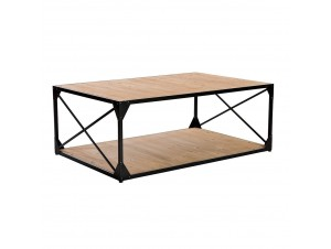 Barcelona Coffee Table White Washed μαύρο