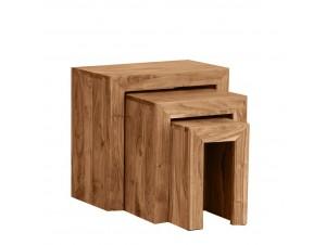 Minimal 45-35-25 Side Table Set 3Τεμ καρυδί