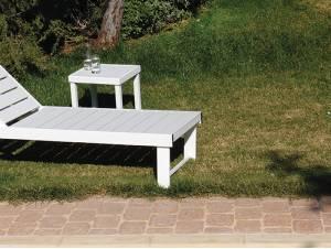 Τετράγωνο Βοηθητικό Τραπεζάκι Λευκό Pollywood