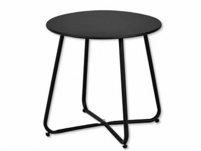 Στρογγυλό Μεταλλικό Βοηθητικό Τραπέζι - BL