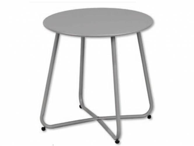 Στρογγυλό Μεταλλικό Βοηθητικό Τραπέζι -LGREY