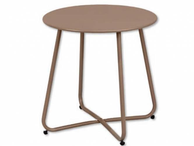 Στρογγυλό Μεταλλικό Βοηθητικό Τραπέζι - T
