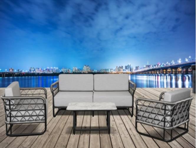 Marine/XL Lounge Set Σαλόνι κήπου Rattan