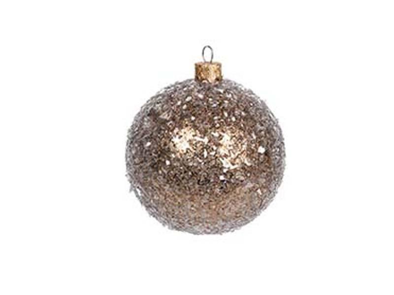 Χριστουγεννιάτικη Γυάλινη Μπάλα με Γκλιτερ 8 εκ.