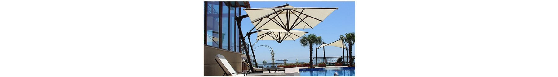 Επαγγελματικές ομπρέλες ξενοδοχείου, παραλίας, καφετέριας