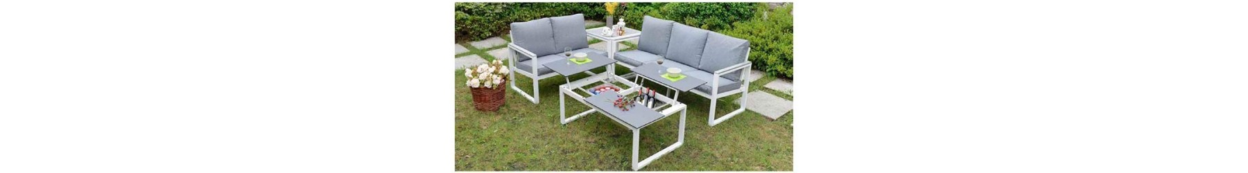 Καθιστικά κήπου και βεράντας με αλουμίνιο και επιφάνειες από Polywood