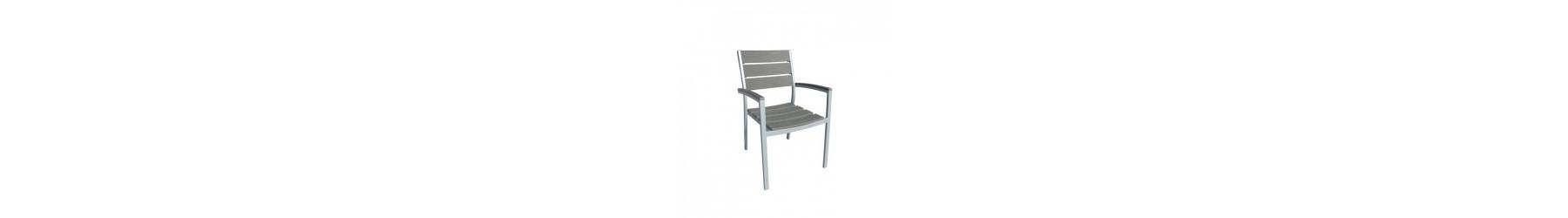 Πολυθρόνες με επιφάνειες Polywood και σκελετό από αλουμίνιο