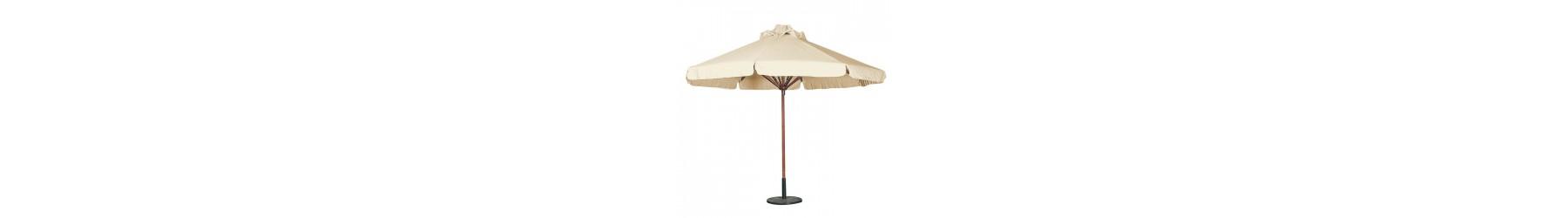 Ξύλινες ομπρέλες για το κήπο ή τη πισίνα.