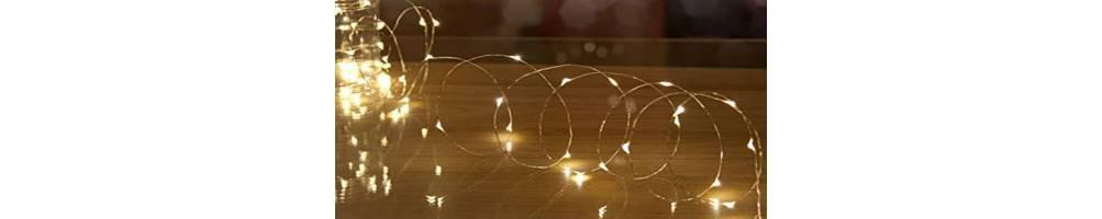 Φωτάκια Led Χριστουγεννιάτικα σε σύρμα για διακόσμηση