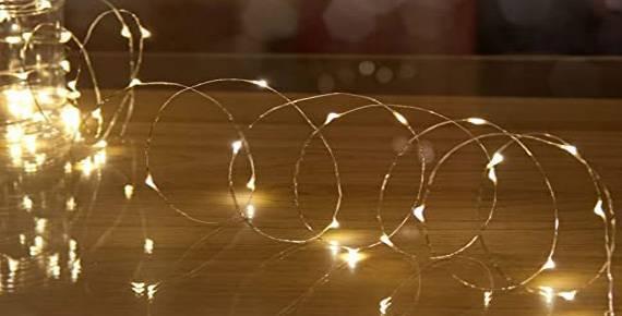 Χριστουγεννιάτικα φωτάκια led σε σύρμα