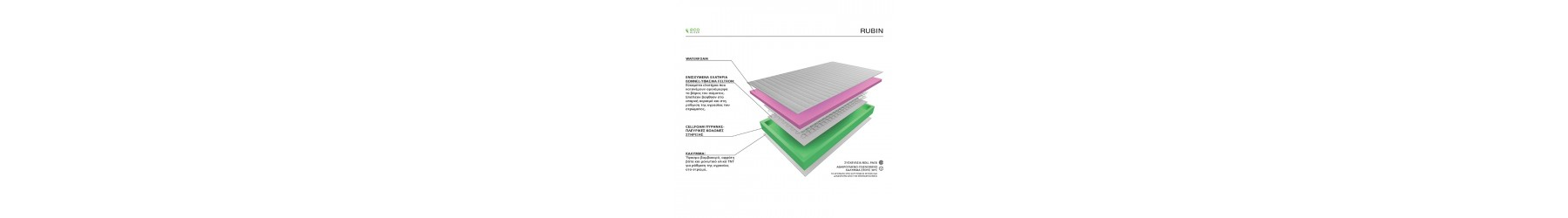RUBBIN Στρώματα με ανατομικό και ορθοπεδικό σχεδιασμό