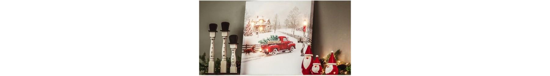 Ταμπέλες και πινακίδες φωτιζόμενες με Χριστουγεννιάτικο θέμα