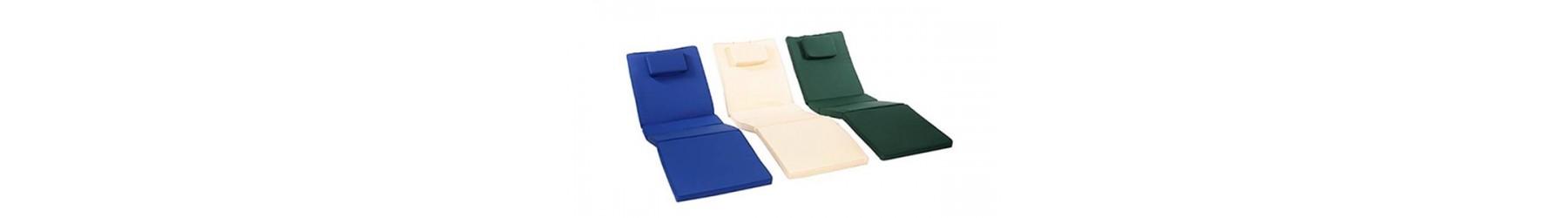 Μαξιλάρια εξωτερικής χρήσης για ξαπλώστρες σε όλες τις διαστάσεις.