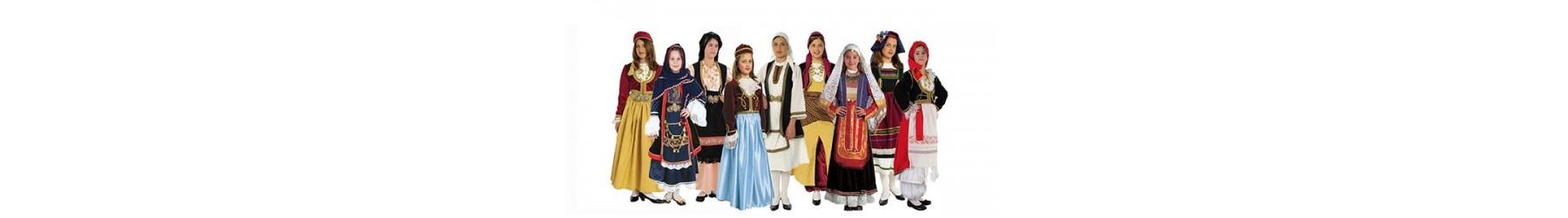Παραδοσιακές στολές για κορίτσι. Αμαλία και τοπικές φορεσιές