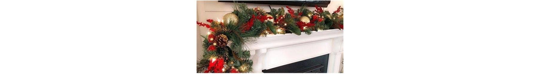Χριστουγεννιάτικες γιρλάντες σε πολλά σχέδια και μεγέθη