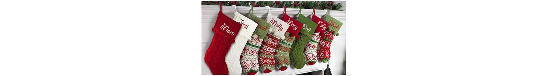Κάλτσες Χριστουγεννιάτικες για τη διακοσμηση δώρων και το στολισμό