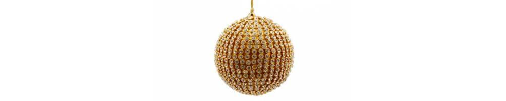 Χριστουγεννιάτικες μπάλες χρυσές