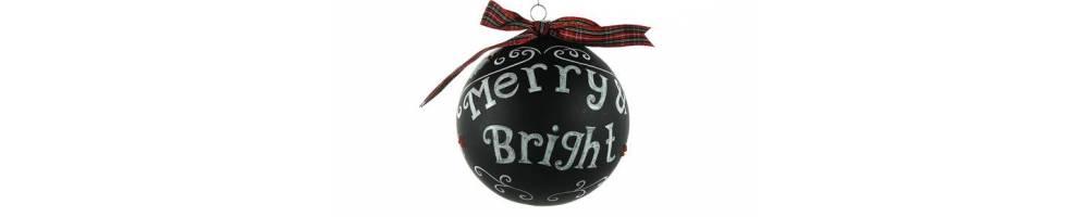 Χριστουγεννιάτικες μπάλες μαύρες