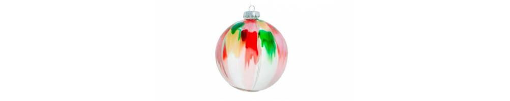 Χριστουγεννιάτικες μπάλες πολύχρωμες