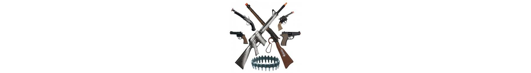 Αποκριάτικα όπλα, πολυβόλα, πιστόλια και κουμπούρια