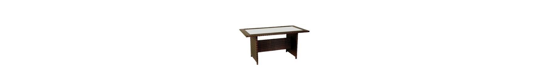 Τραπέζια για τον κήπο από πλέξη με συνθετικό υλικό rattan wicker