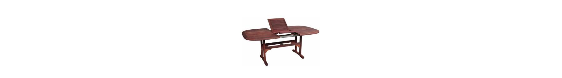 Τραπέζια κήπου επεκτεινόμενα από ανθεκτικό ξύλο για εξωτερικό χώρο