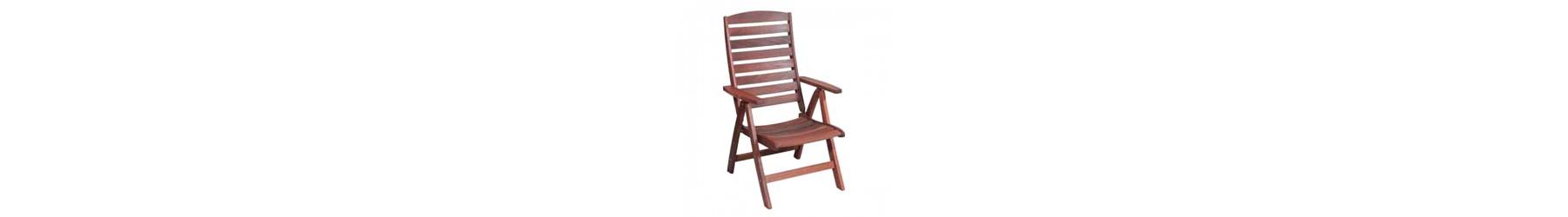 Πολυθρόνες και καρέκλες κήπου και βεράντας ξύλινες για εξωτερικό χώρο