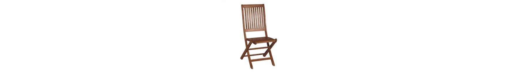 Καρέκλες κήπου και βεράντας ξύλινες με ανάκλιση χωρίς μπράτσα