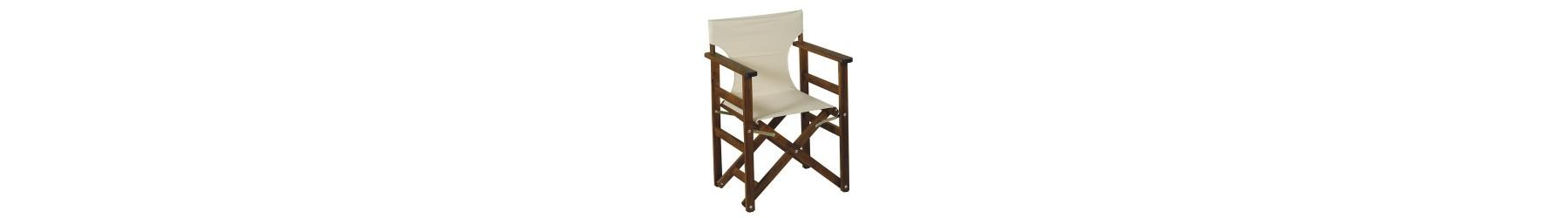 Πολυθρόνες και καρέκλες σκηνοθέτη ξύλινες για κήπο και βεράντα