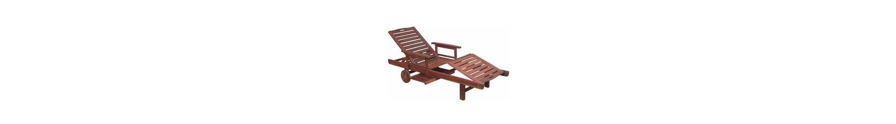 Ξαπλώστρες κήπου, πισίνας και παραλίας ξύλινες