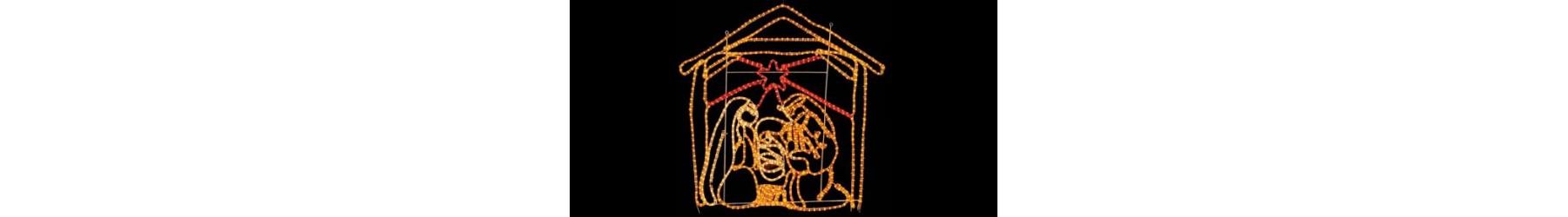 Χριστουγεννιάτικα φωτιζόμενα σχέδια διακόσμησης