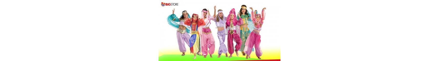 Αποκριάτικες παιδικές στολές Χανούμισας και Οριεντάλ για κορίτσια