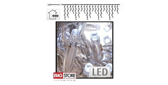 LED Χριστουγεννιάτικες Κουρτίνες ασύμμετρες
