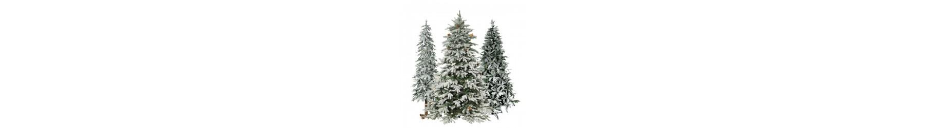 Δέντρα παραδοσιακά με χιονισμένα κλαδιά σε διάφορα σχέδια